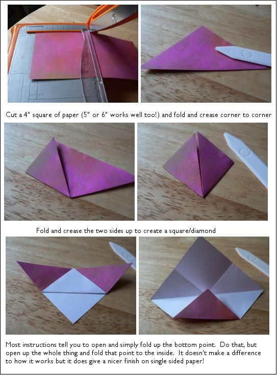 Origami Bookmark Scrappystickyinkymess