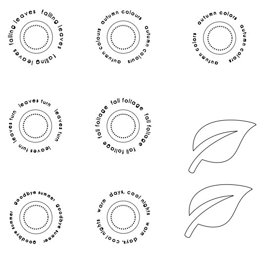 photograph about Printable Circles titled Autumnal Mini printable circles and offers