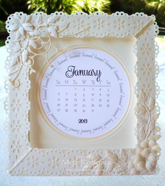 Cream on Cream Calendar