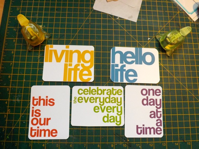 Bold Title Cards For Project Life Style Albums Scrappystickyinkymess