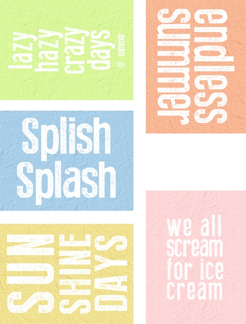 Endless Summer printables for Project Life (1/3)