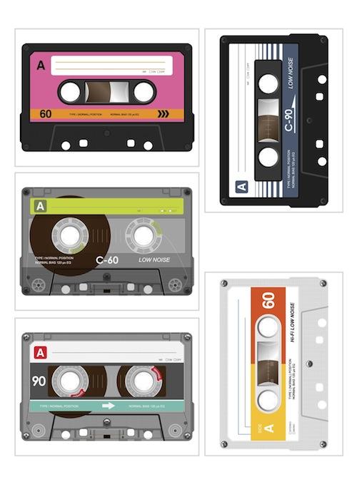 casette tape printables for project life. Black Bedroom Furniture Sets. Home Design Ideas