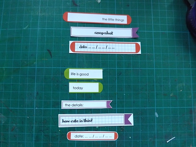 Long Labels Sized For Project Life With An Addition