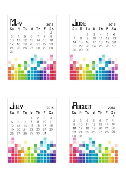 free downloadable calendars for 2015