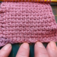 No-roll Tunisian crochet TSS