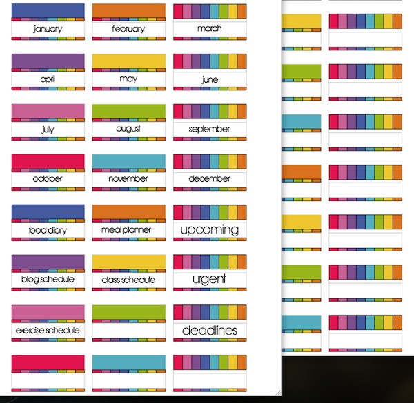 Diy Calendar Tabs : More planner pages scrappystickyinkymess