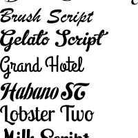 Font choices for book folding