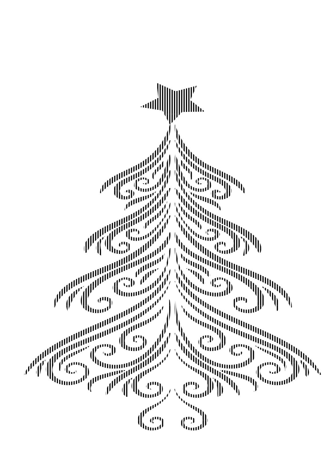 christmas tree stencils free