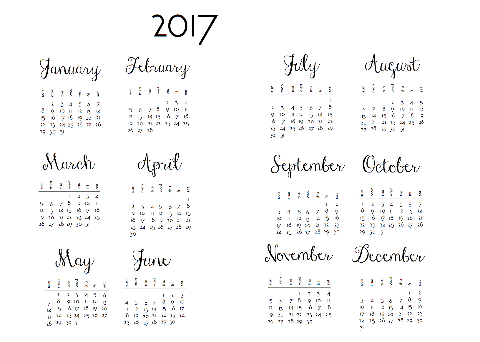 Year at a Glance for planners and 2018 DIY | scrappystickyinkymess