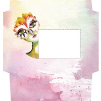 All you need to create your own quirky envelope for mailing art!